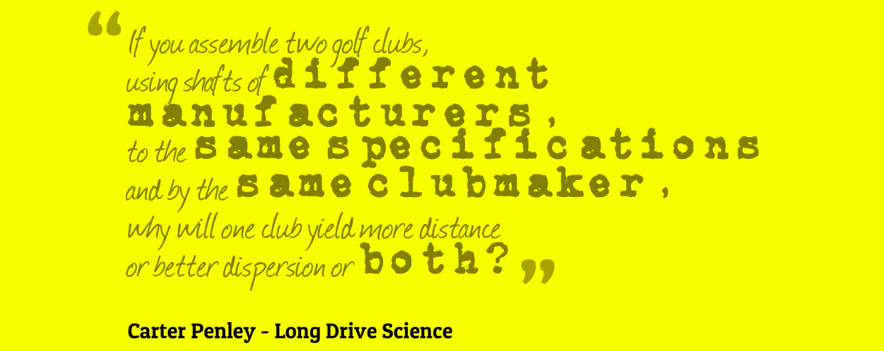 Long Drive Science Quote 2